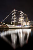 Mexicanskt seglingskepp Cuauhtemoc i Odessas port Royaltyfria Bilder