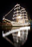 Mexicanskt seglingskepp Cuauhtemoc i Odessas port Arkivfoto