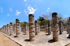 mexico świątyni tysiąc wojownicy Zdjęcie Stock