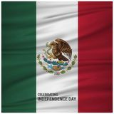 Mexico Abstract Waving Flag. For web design and application interface, also useful for infographics. Vector illustration