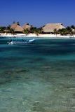 Mexico Akumal Caribbean beach Stock Photos