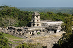 Palenque Maya ruins in Mexico Royalty Free Stock Photo