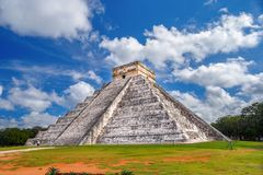 Mexico. Ancient Mayan city of Chichen Itza. Pyramid of Kukulkan. Ancient Mayan pyramid of Kukulkan Quetzalcoatl. Historical places are Chichen Itza, Mexico Stock Images