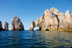 Mexico. The Arch Of Cabo San Lucas. In the southern tip of the California Peninsula, concentrating a series of beautiful cliffs. But none of them can compare Royalty Free Stock Image