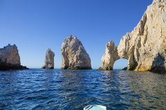 Mexico. The Arch Of Cabo San Lucas. In the southern tip of the California Peninsula, concentrating a series of beautiful cliffs. Rock El Arco is one of the most Stock Image