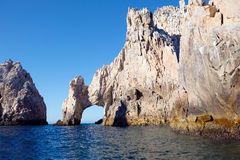 Mexico. The Arch Of Cabo San Lucas. In the southern tip of the California Peninsula with concentration range of beautiful rocks of unusual shapes. But none of Royalty Free Stock Photos