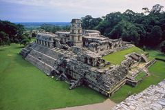 Mexico: Archeology, Palenque, Temples royalty free stock photography
