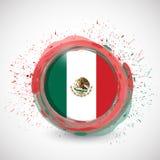 mexico atramentu okręgu flaga ilustracyjny projekt Fotografia Royalty Free