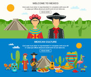 Mexico Banner Set Stock Image