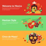 Mexico banner set Royalty Free Stock Photography