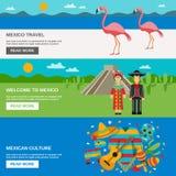 Mexico Banner Set Stock Photo