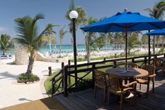Mexico beach cafe. Mexico beach view from cafe Royalty Free Stock Photography