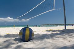 Mexico on beach net ball Royalty Free Stock Photo