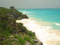 Tulum ruins near the beach, Mexico royalty free stock images