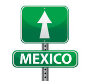 Mexico border sign royalty free illustration