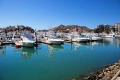 Mexico. Cabo San Lucas. Berth. Yachts. Stock Photos