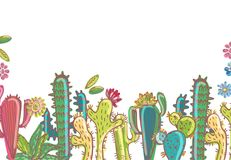Mexico cactus  illustrations collection. Colorful elements for design Stock Image