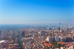 Mexico capital city from Torre Latinoamericana Royalty Free Stock Images
