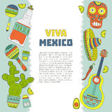 Mexico Card Template Royalty Free Stock Photos