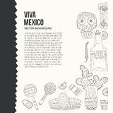 Mexico Card Template Royalty Free Stock Photography