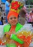 Mexico Carnaval. A dancer performing at a parade during a carnaval in Veracruz, Mexico 09 Feb 2016 No model release Editorial use only Royalty Free Stock Photos