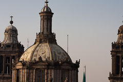 Mexico cathedral dome. In mexico in america Royalty Free Stock Image
