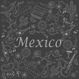 Mexico chalk vector illustration Stock Images