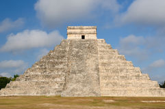 Chichen Itza Maya ruins in Mexico. Mexico, Chichen Itza ruins is the most famous and best restored of the Yucatan Maya sites. The picture presents the Pyramid of royalty free stock photo