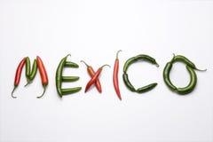 Mexico, chiles serranos Stock Afbeeldingen