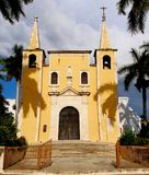 Mexico church cathedral Merida colonial architecture Royalty Free Stock Image
