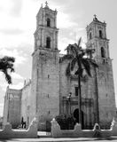 Mexico church cathedral Merida colonial architecture historial yucatan black and white Stock Image
