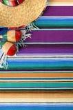Mexico cinco de mayo background mexican sombrero copy space vertical Stock Photos