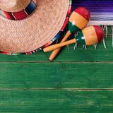 Mexico cinco de mayo festival wood background mexican sombrero square. Mexico cinco de mayo festival wood background mexican sombrero stock photography