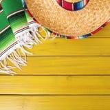 Mexico cinco de mayo sombrero background border square format. Mexico cinco de mayo background border square format Stock Photography
