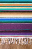 Mexico cinco de mayo traditional mexican serape rug or blanket background top view vertical. Mexico cinco de mayo traditional mexican serape rug or blanket Stock Photography