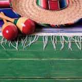 Mexico cinco de mayo wood background mexican sombrero square. Format royalty free stock photo
