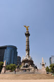 Mexico City. The Angel of the Independence is the most important monument in Mexico City, where the human rest of the Independence heroes are Stock Images