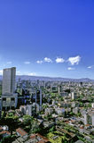 Mexico city. Panoramic view of the northwestern part of Mexico City in a very clear day - analog scan image Stock Image