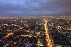 Mexico City. Night View of Downtown Mexico City Royalty Free Stock Photos