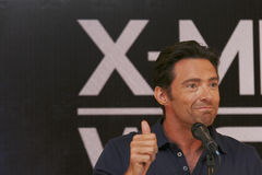 MEXICO CITY Actor Hugh Jackman. MEXICO CITY-MAY 26 2009: Actor Hugh Jackman Logan/Wolverine attends the X-MAN ORIGINS: WOLVERINE PhotoCall & Press conference at Royalty Free Stock Images