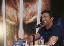 MEXICO CITY Actor Hugh Jackman. MEXICO CITY-MAY 26 2009: Actor Hugh Jackman Logan/Wolverine attends the X-MAN ORIGINS: WOLVERINE PhotoCall & Press conference at Stock Images
