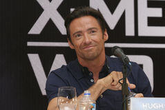 MEXICO CITY Actor Hugh Jackman. MEXICO CITY-MAY 26 2009: Actor Hugh Jackman Logan/Wolverine attends the X-MAN ORIGINS: WOLVERINE PhotoCall & Press conference at Stock Photography