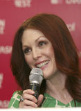 MEXICO CITY Actress Julianne Moore Fashion Fest. MEXICO CITY - MARCH 5TH 2009 -  Actress Julianne Moore attends a photo call and press conference during the Royalty Free Stock Photo