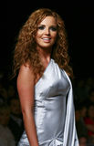 MEXICO CITY Actress Mariana Torre walks the runway royalty free stock images