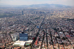 Mexico City Aerial. Aerial View of Mexico City Royalty Free Stock Photo