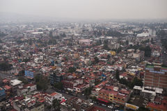 Mexico city. Aerial view of Mexico City Royalty Free Stock Image