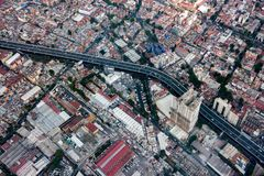 Mexico city aerial view cityscape panorama Stock Photos
