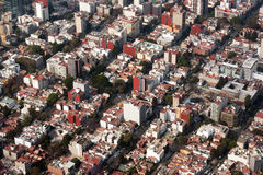 Mexico city aerial view cityscape panorama Stock Photography