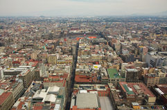 Mexico city aerial view with mountains and clouds DF Stock Photos