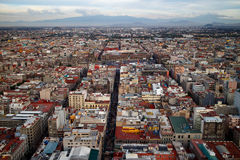 Mexico City Aerial View Stock Images